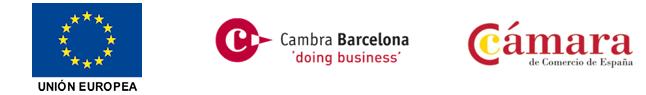Apoyo de la Unión europea y Cámara de comercio de Barcelona